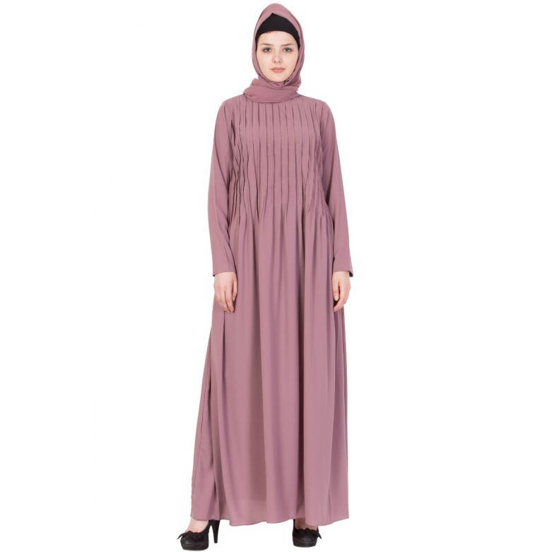 Puce PInk-Abaya Dress