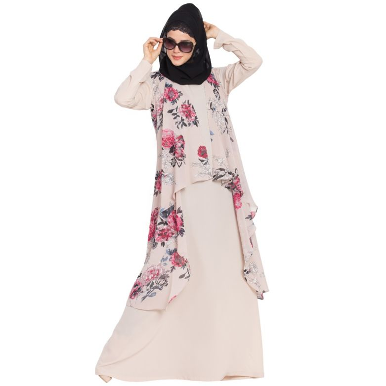 Sleeveless and Free Size Shrug For Any Abaya-Beige