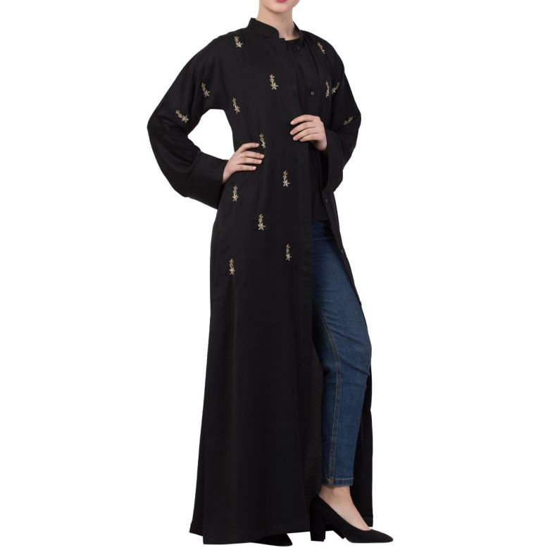 Front Open - Occasion Abaya With Hand Embellishments