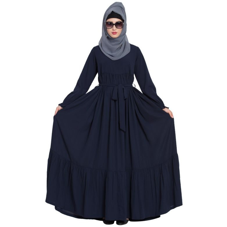 Comfort Fit Abaya Dress with Flexible Sleeves
