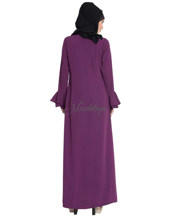 Long Gown With Bell Sleeves- Not An Abaya