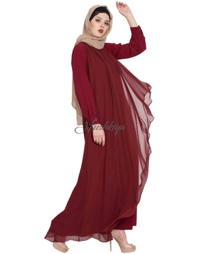 Beautiful Abaya With Attached Georgette Layer
