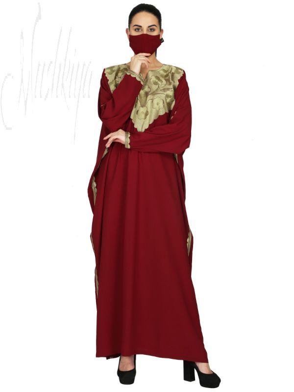 Kaftan With Embroidery Work. It Comes With A Matching Hijab.
