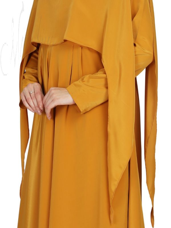 Dual Layer- Dress With Attached Cape,Comes with Matching Mask.