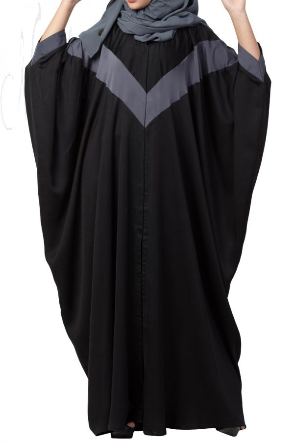 Front Open Kaftan in Dual Color Made in Premium Nida Fabric