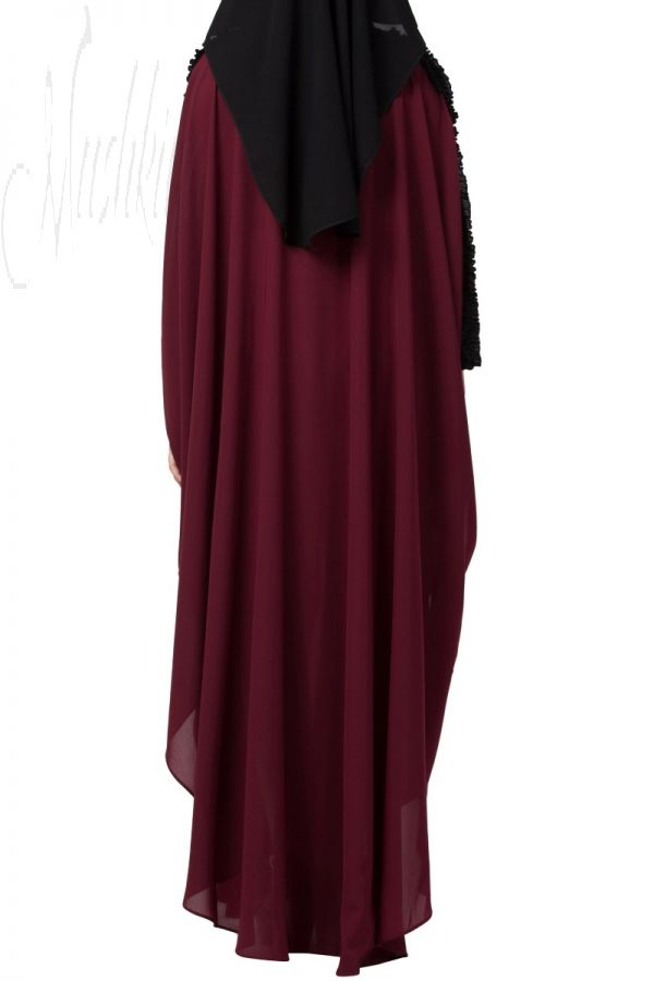 Modern Kaftan with Open Side Slits and Ruffles on Sleeves