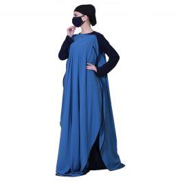 Three Pieces Set Of Inner Abaya, A Sleeveless Cape and Hijab