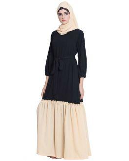 Dual Color Abaya For Girls