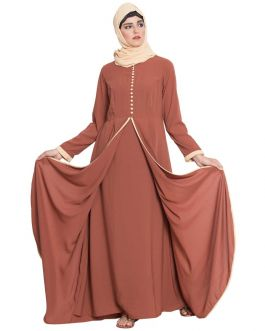 Multi Layer Dress With Loop Buttons - Not An Abaya