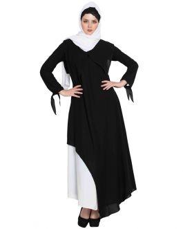 Elegant Dress With Multiple Detailings - Not An Abaya