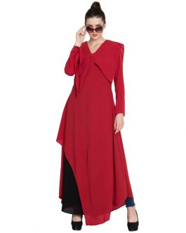 Elegant Dress With Multiple Detailings - Not An Abaya