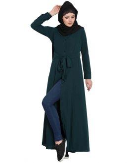 Casual Dress With Belt - Not An Abaya
