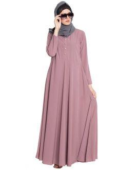 Dusty Pink Abaya|Umbrella Abaya