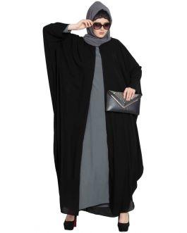 Designer Kaftan Burqa Combo- Black & Grey