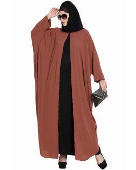 Designer Kaftan-Abaya Combo-Rust & Black