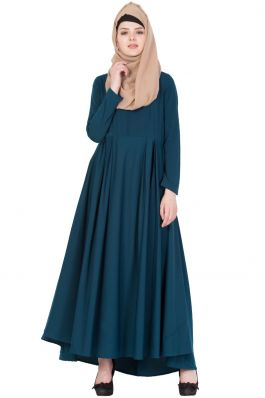 Biased Cut- Umbrella Flare Dress in Poly Twill -Not An Abaya