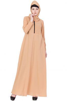 Simple Abaya Online-Beige