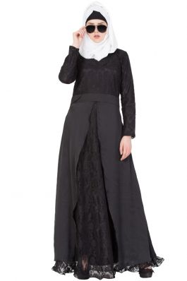 Black Designer Abaya