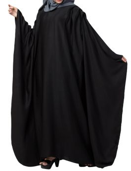 Very Elegant Islamic Abaya Kaftan With Pleats on Shoulders Made in Premium Nida Fabric