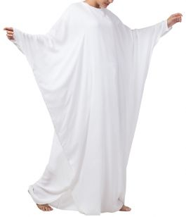 Simple White Kaftan In Rayon Cotton fabric