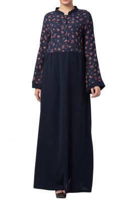 Printed Abaya Like Dress For Daily Use