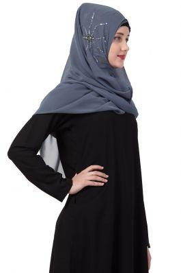 Mushkiya-Instant Hijab With Hand Work-Hijab For Mahrams