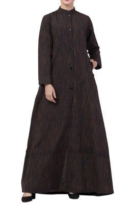 Khadi Look-Front Open- Abaya Dress