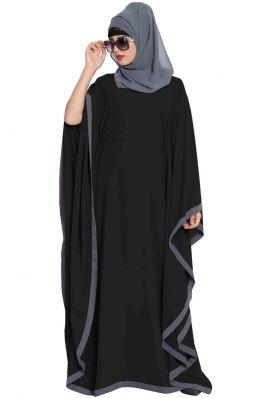 Dual Color Farasha|Black Abayas
