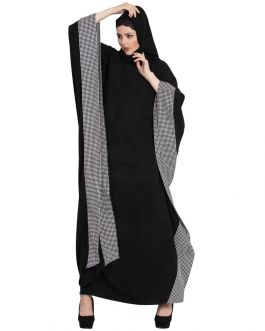 ZEHRA- BLACK AND WHITE FARASHA KAFTAN-BLACK-WHITE