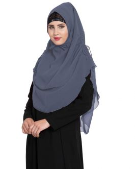 Stylish Instant Hijab In Dual Layer|Khimar