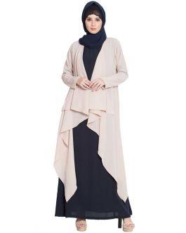 Full Sleeves Shrug For Abaya- Light Beige