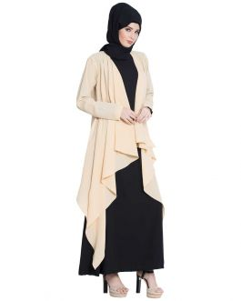 Full Sleeves Abaya Shrug-Fawn