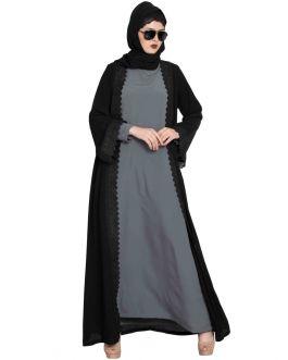 Saudi Style Abaya Shrug|Black Shrug For Any Abaya