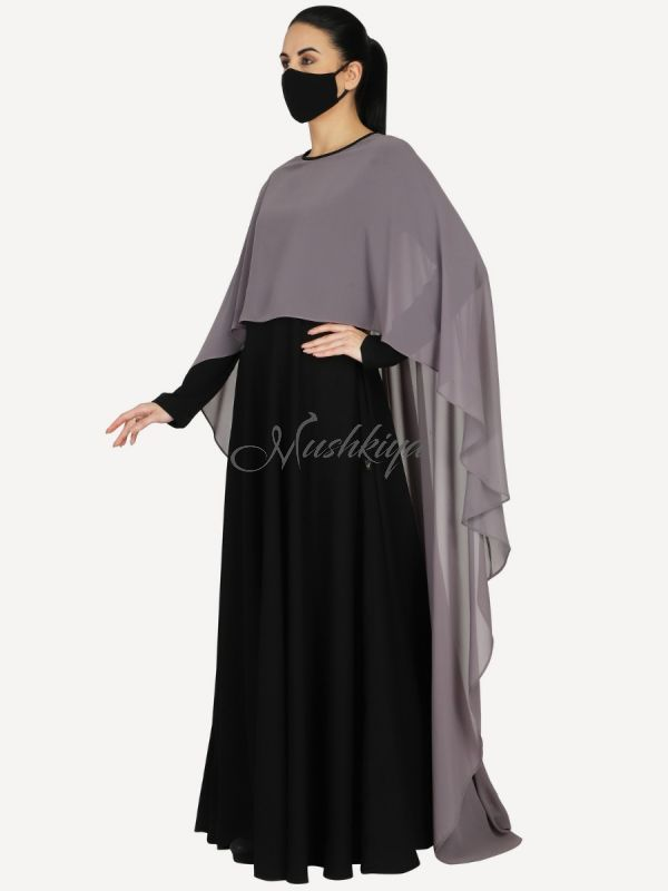 Princes Abaya Dress In Dual Layer. Keeps Your Modesty Entact While Giving You A Modern Look. Comes