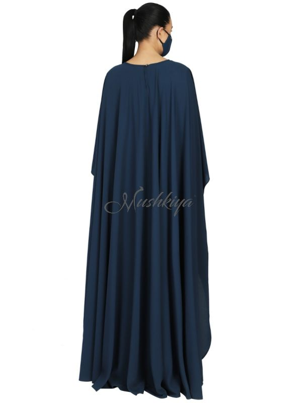 Princes Abaya Dress In Dual Layer. Keeps Your Modesty Entact While Giving You A Modern Look. Comes With A Matching Hijab.