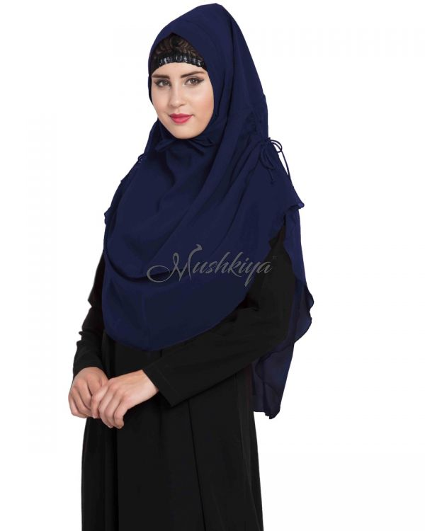 Stylish Instant Hijab In Dual Layer Khimar