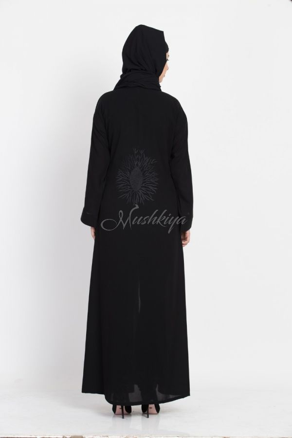 Designer Burka |Front Open Burka with Embroidery